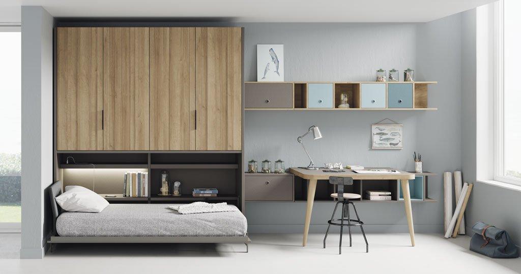 Habitacion juvenil completa reikiavik lagrama 1 - Armario para habitacion ...