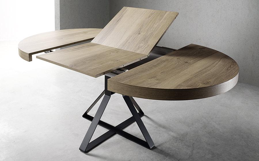 Mesa hiedra muebles passe avant for Mesas de salon redondas extensibles