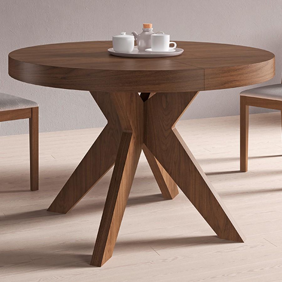 Mesa roma muebles passe avant for Mesas redondas de madera